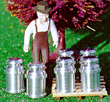 Cargo-To-Go: O GA Lionel Style MILK CANS - New! 8 Pcs - 101-0854