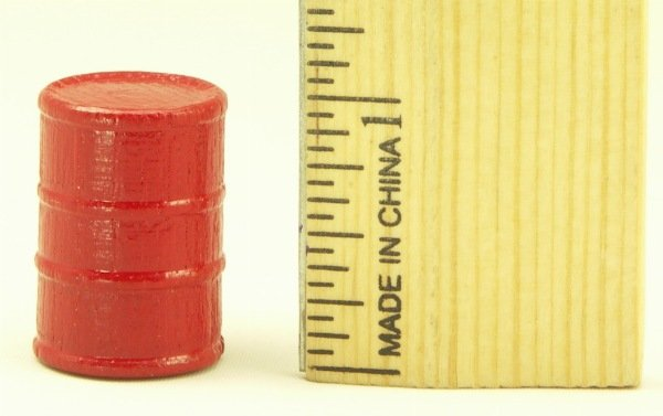 Cargo-To-Go: Six O GA Red Industrial Oil Barrels - 101-0904 - Re