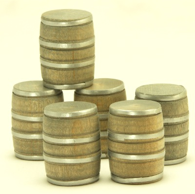 Cargo-To-Go: Industrial Barrels Brown w/ Strapping - 101-0913