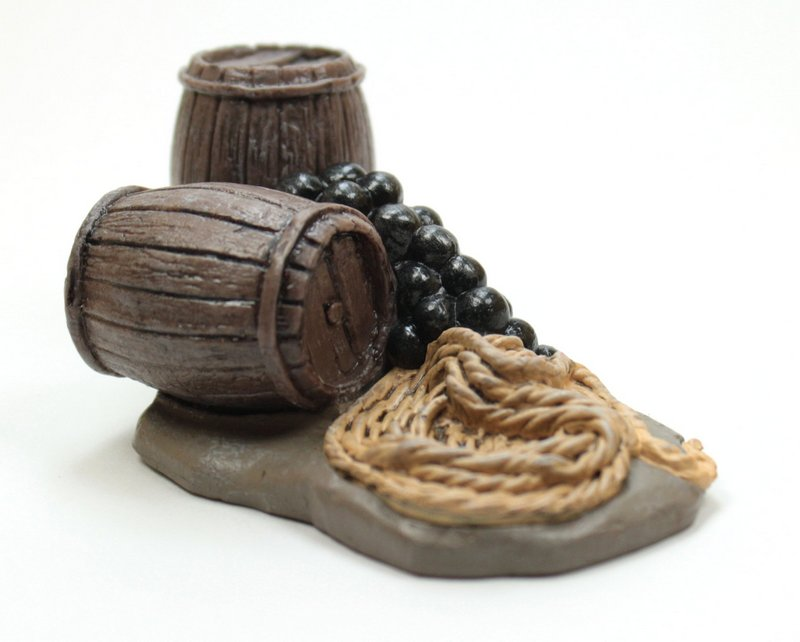 Cannonballs, Barrels, Rope - #118-1004