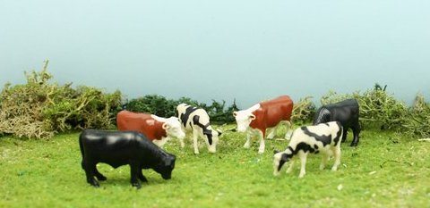 "Cows - 1"" Cattle-Assorted Pieces - Set of 6 - 102-2038"