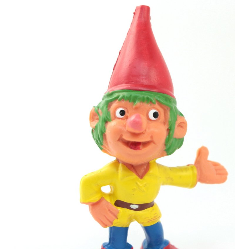 "Gnome - 2.5"" - Green Hair Elf - Colorful - 149-0369"