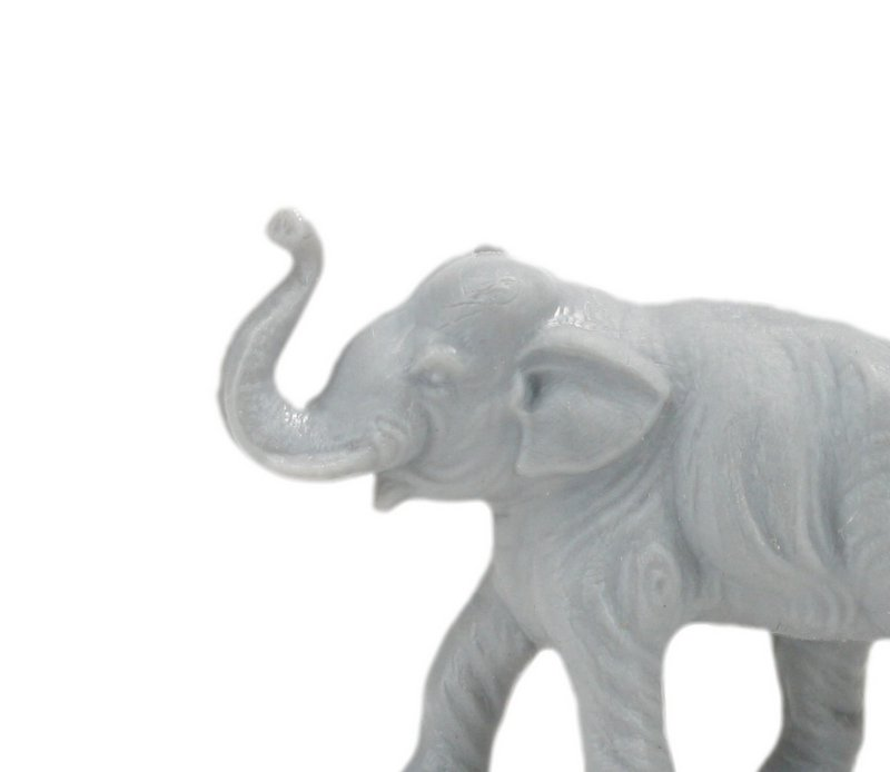 Elephants - Small - Set of 8 - Retro Dollhouse Minis - 201-149-3