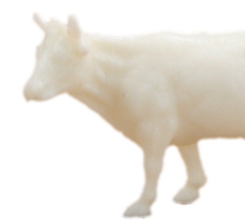Cows - Cattle - White - Set of 8 - Dollhouse Minis - 201-154-3