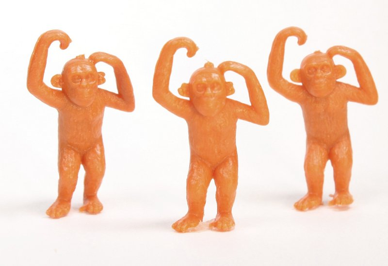 Chimps - Medium Monkeys - Set of 8 - Dollhouse Minis - 201-159-3