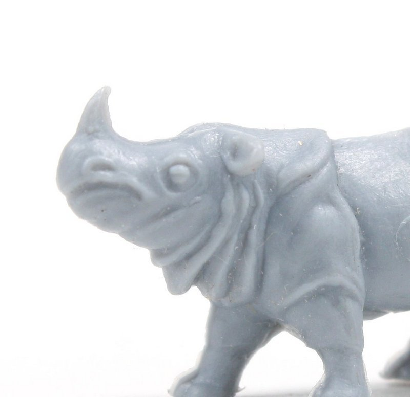 Rhinoceros - Large - Set of 8 - Dollhouse Minis - 201-160-3