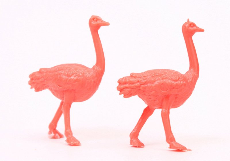 Flamingos - Large Pink - Set of 8 - Dollhouse Minis - 201-163-4