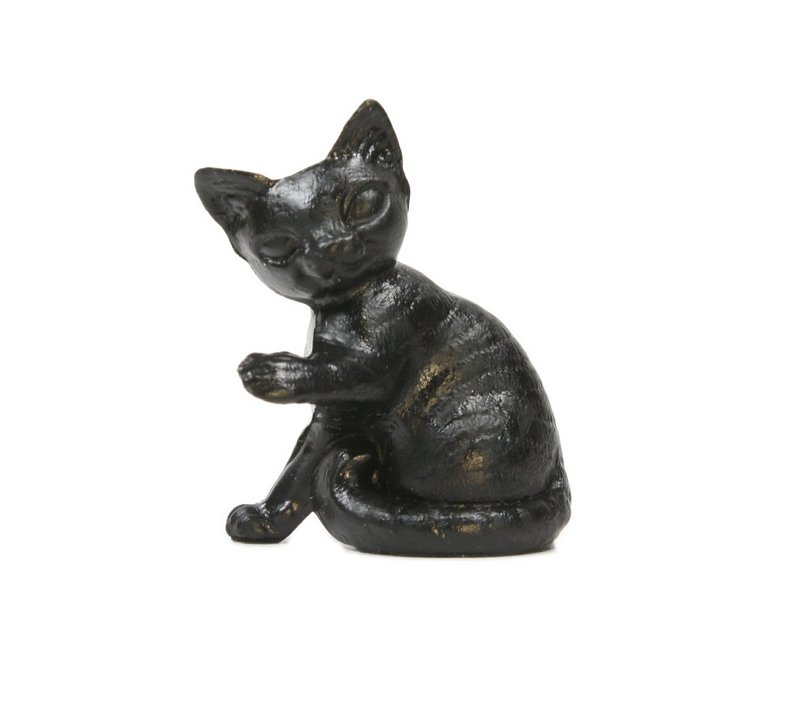 "Cats - Sitting Cat - 1 1/2"" - Black - Set of 4 - 203-3-081"