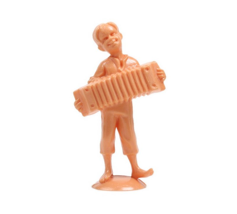 "Dancing Accordion Boy - 1 3/4"" Tall - Set of 3 - #203-3-086"