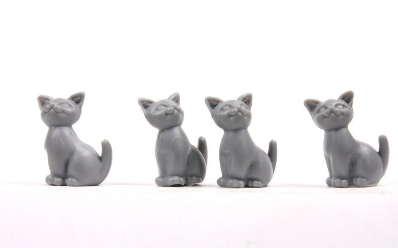 Cats - Sitting Kittens - Gray - Set of 6 - 203-3-212-GY