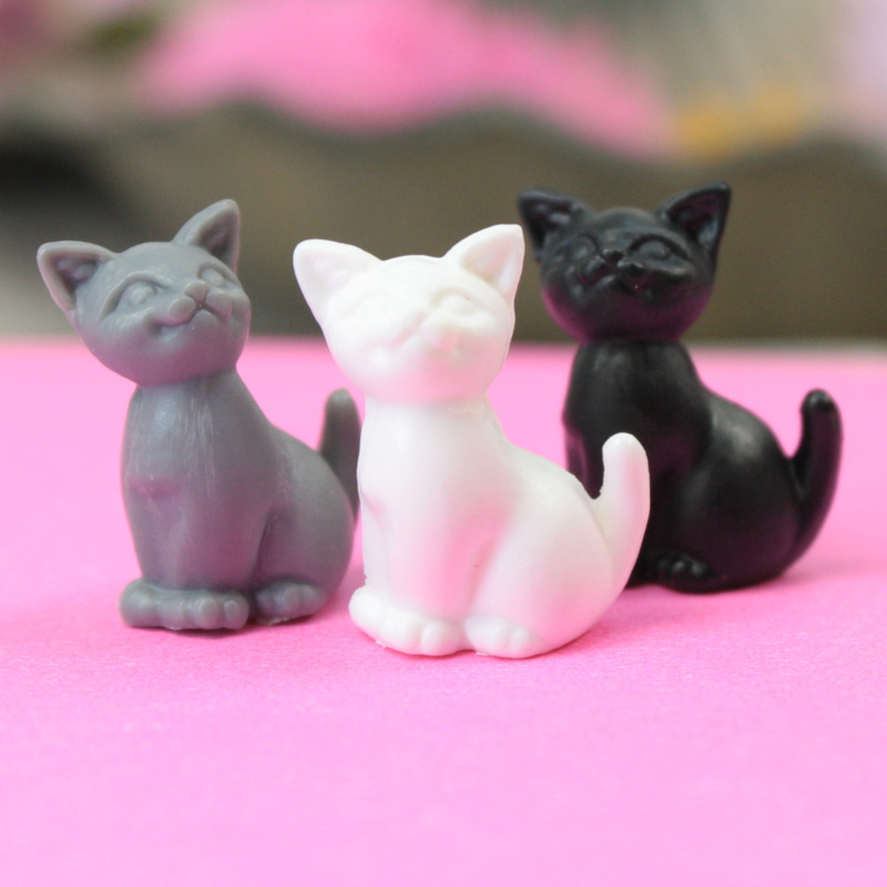 Assorted Happy Cats - 3 Colors - Set of 6 - 203-3-212-MIX