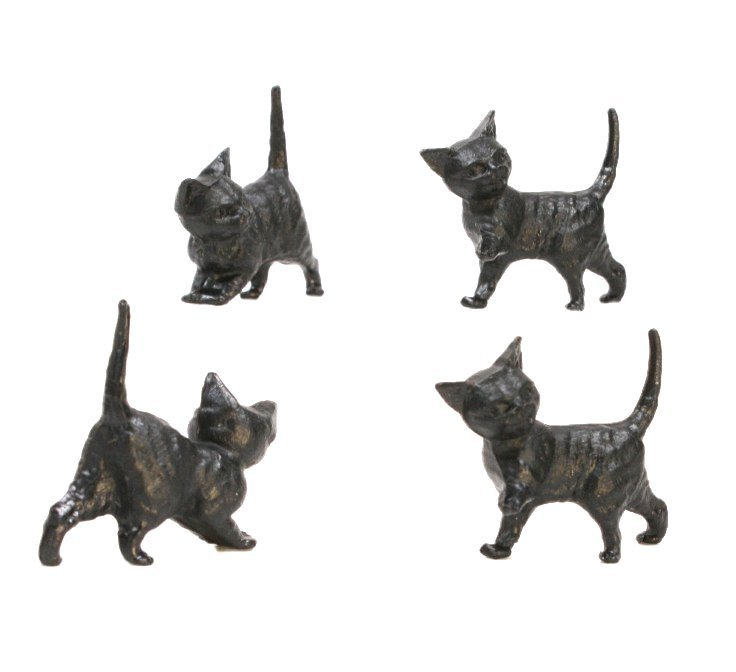 Cats - Running Kittens - Black - Set of 6 - 203-3-50B