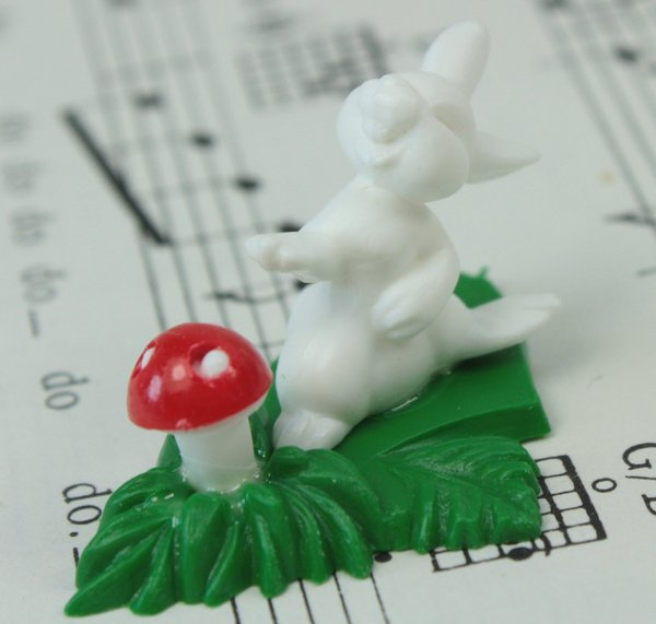 Rabbit and Mushroom Patch - Set of 4 - #203-3-7101