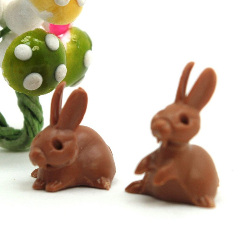 Bunny Rabbits - Brown - Set of 8 - 203-9-14B