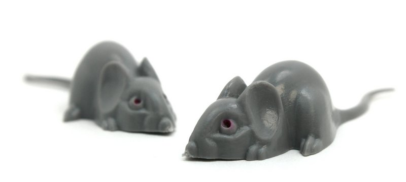 "Mice - Gray Mouse Set - 2"" Long - 8 Pieces - 203-9-17-GY"