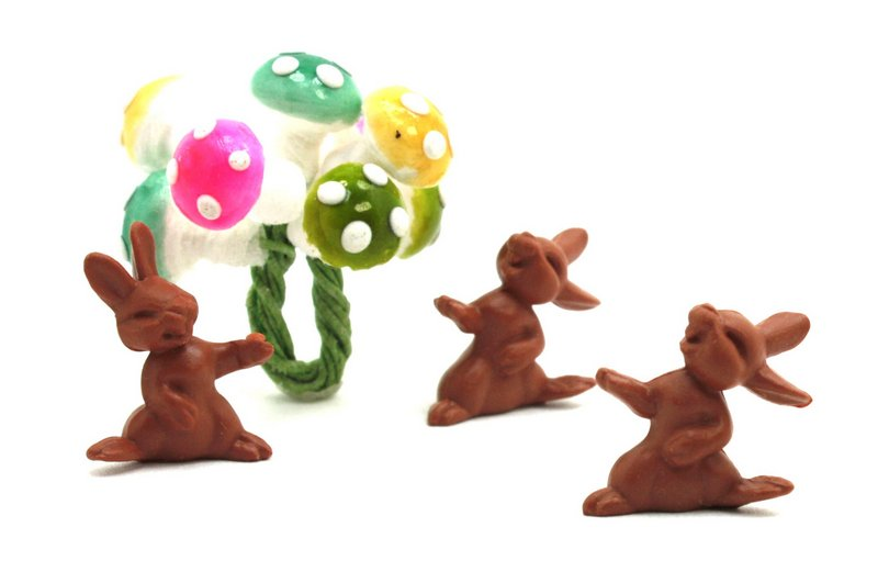 Bunny Rabbits - Brown - Set of 8 - 203-9-99B