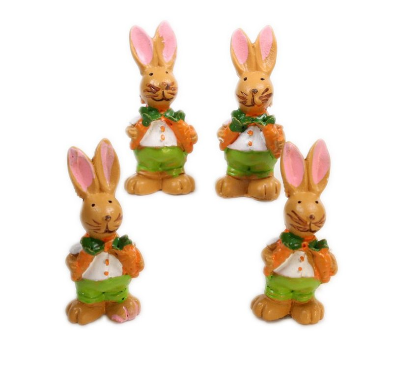 Bunny Boys - With Carrots - Set of 4 - Easter - 205-0483