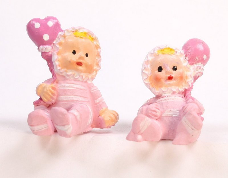 Babies - Lil Pink Girls - Set of 4 - Dollhouse Minis - 205-5257