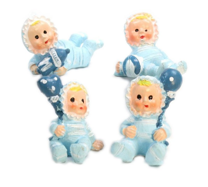 Babies - Lil Blue Boys - Set of 4 - Dollhouse Minis - 205-5257A