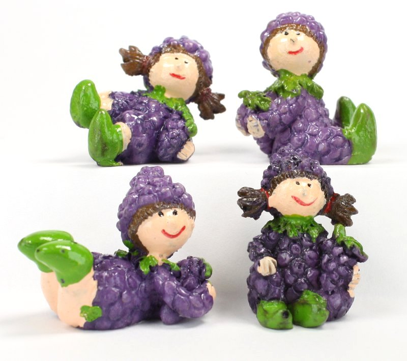 "Lil Pixies - Grape Girl Set - ""Tiny Fruit"" - Set of 4 - 205-5264"