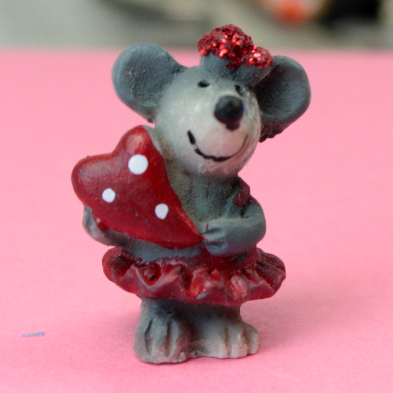 Lovely Mice - Hand Painted - Set of 4 - 205-5334