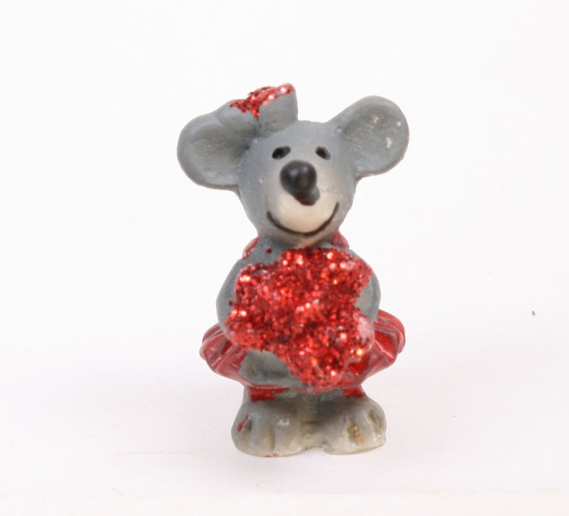 Mice - Glittery Valentine Mouse - Set of 4  - 205-5334