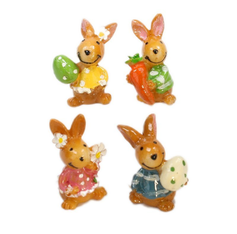 Bunny - Easter Rabbits - Spring - Set of 4 - 205-5339