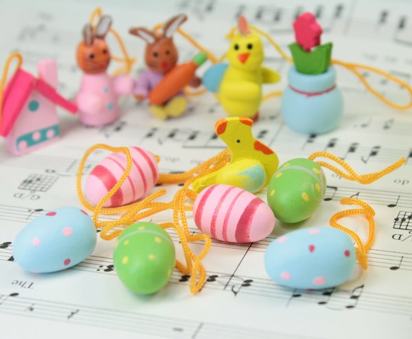 Assorted Easter Ornaments - Set of 18 - 205-6287
