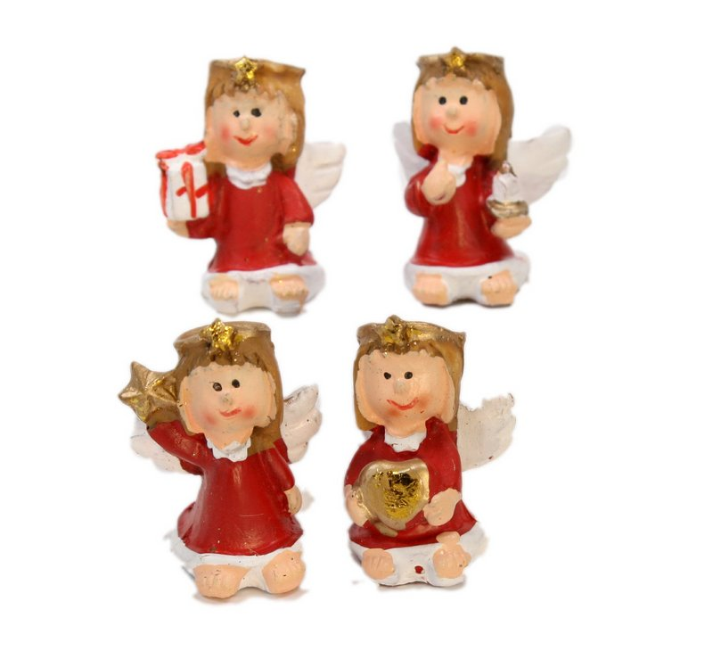 Angels - Lil Red - Set of 4 - Dollhouse Minis - 205-6304