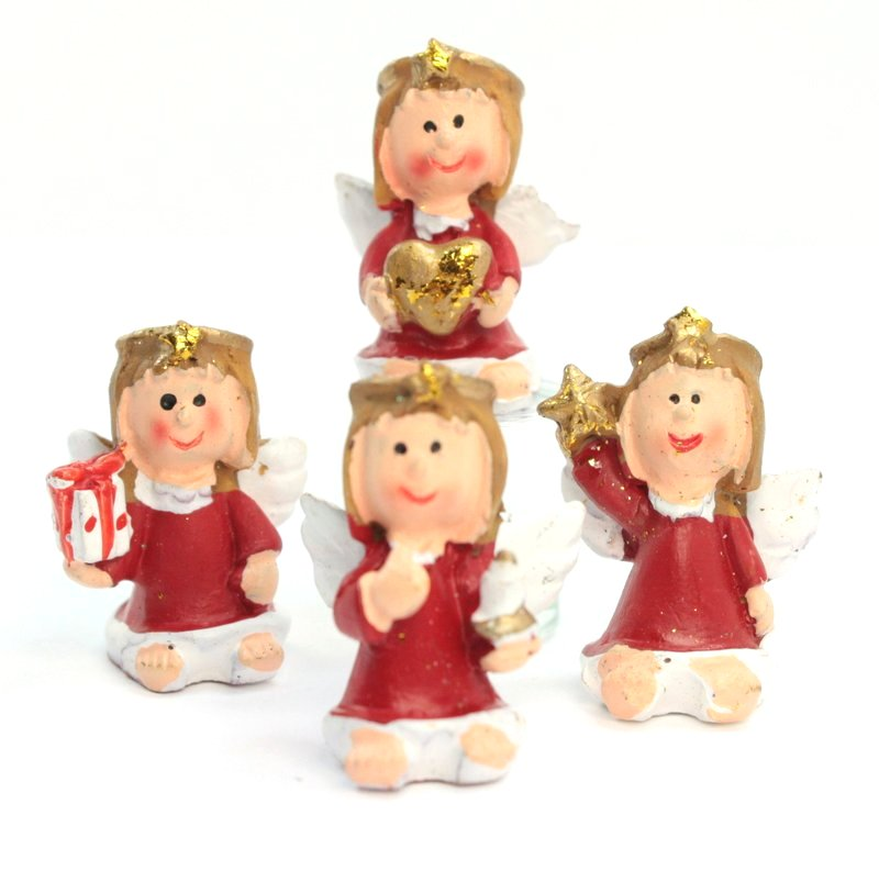 Angels - Little Red - Too Cute! - Set of 4 - 205-6304