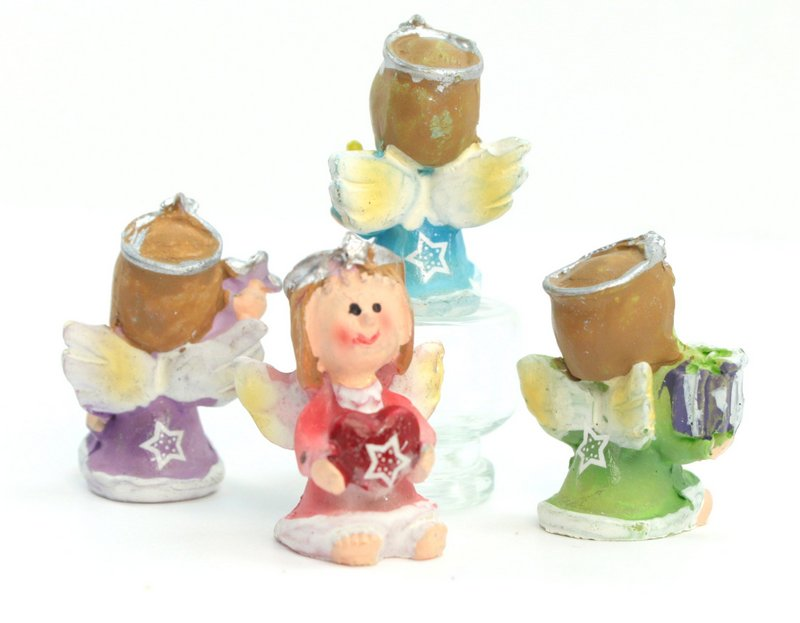 Angels - Little Cute Colorful - Set of 4 - 205-6478