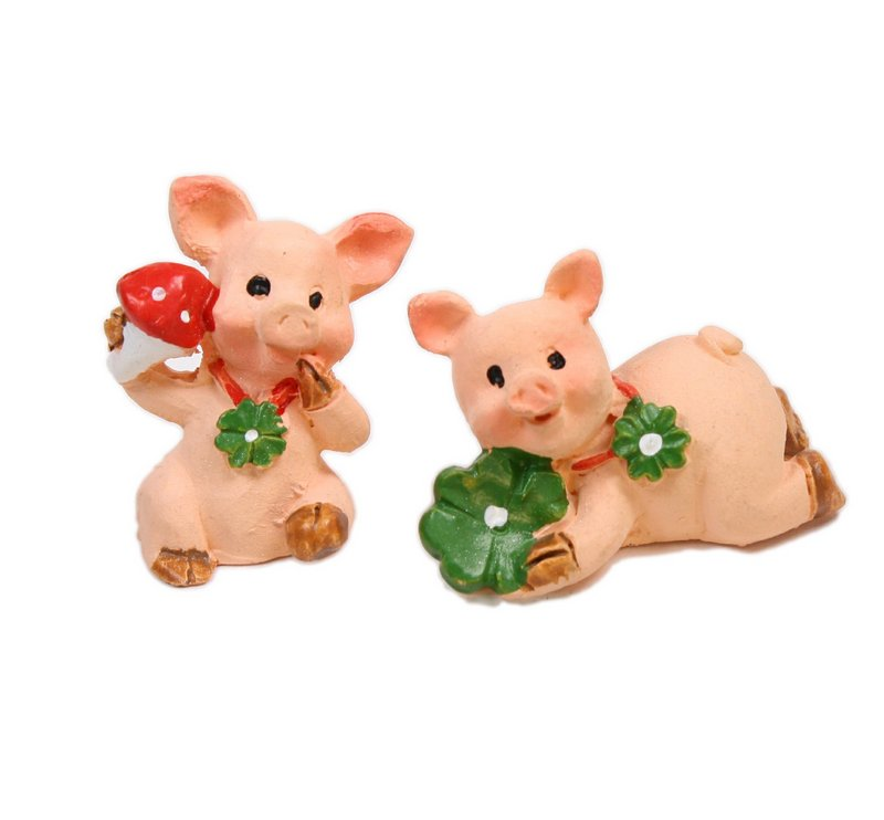 "Pigs - 1"" Tall - Set of 4 - Dollhouse Minis - 205-6506"