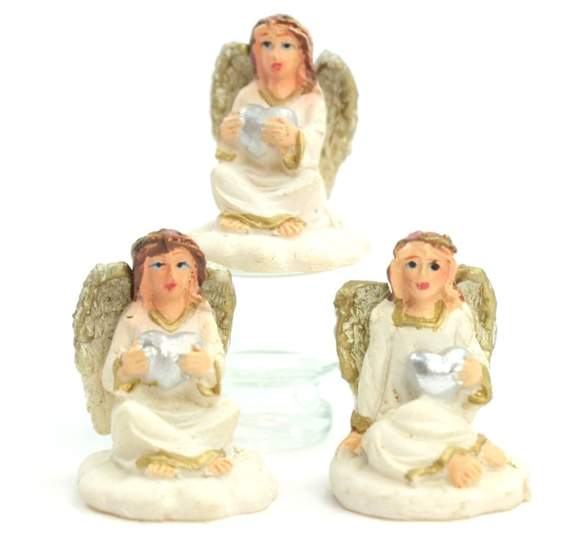 Angels - Silver Heart- Set of 3 - 205-83829A