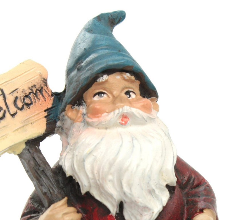 "Gnome - Welcome Sign - 2.5"" Tall - 207-1014"
