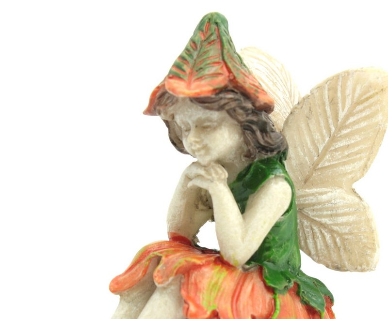 "Fairy - Orange Flower -  2"" Tall - 207-1058"
