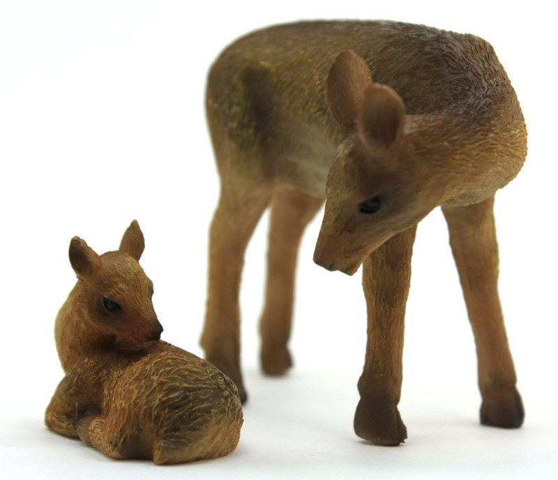 "Deer with Baby Fawn -  2 1/4"" Tall - 207-1067"