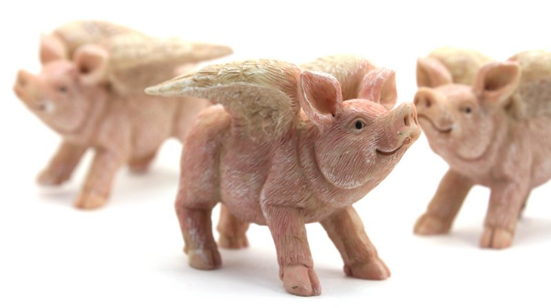 "Fairy Pigs - Winged Flying Pigs -  2.5"" Tall - 207-1135"