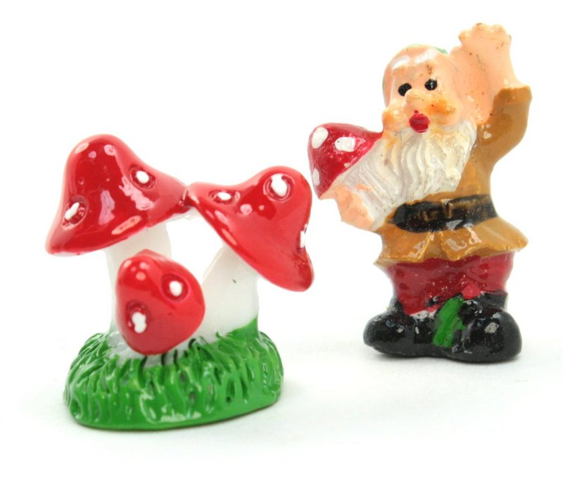 Red - Mushroom Trio- Set of 4 Pieces - 207-1203