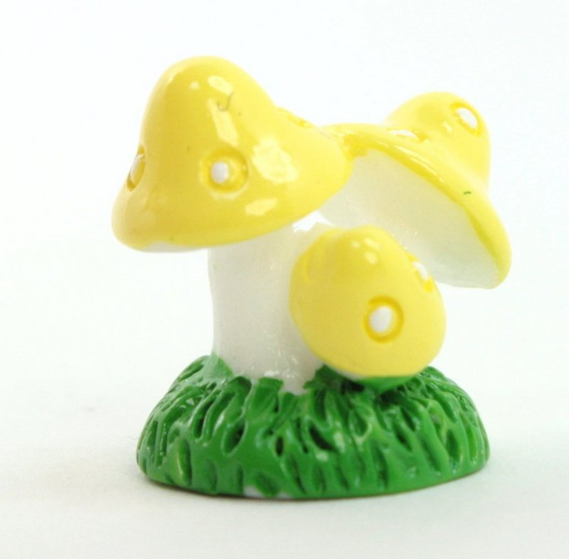 Golden Yellow - Mushroom Trio- Set of 4 Pieces - 207-1205