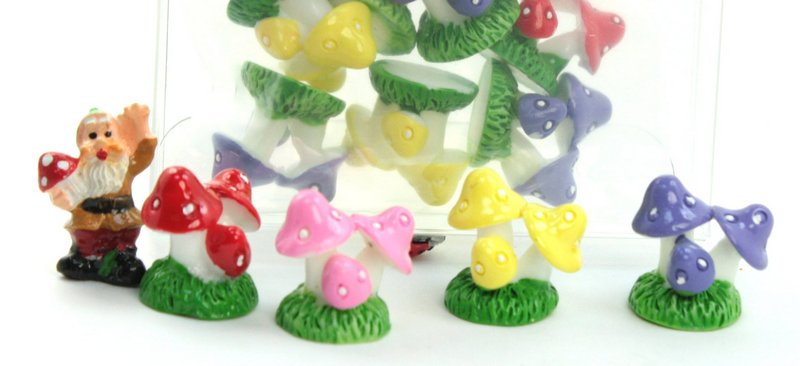 Purple - Mushroom Trio- Set of 4 Pieces - 207-1206