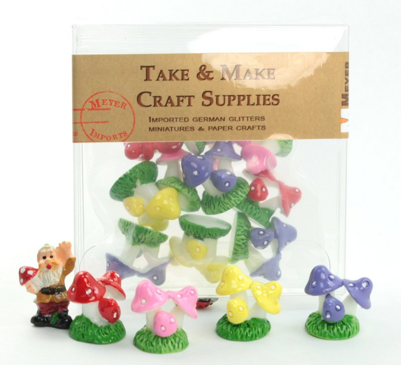 Set - Mushroom Trio- Set of 8 Pieces - 207-1207