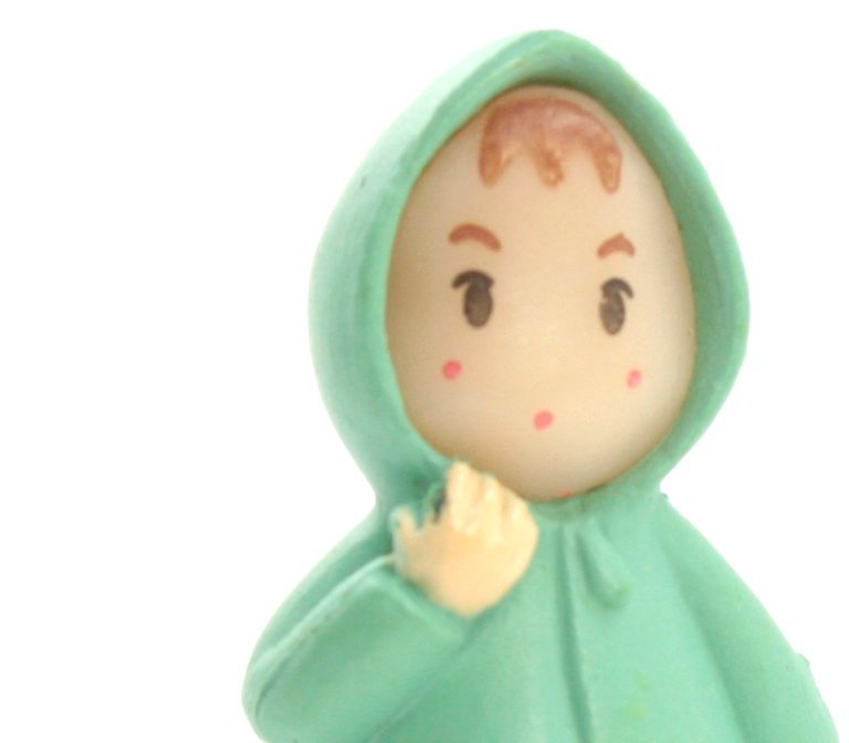 "Girl - Wearing Raincoat - 1 1/4"" Tall - 207-1208"