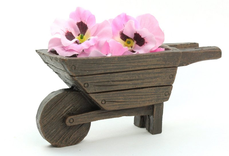 "Wheelbarrow - Cart - Fairy Garden - Doll - 3.5"" Long - 207-5294"