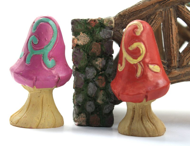 "Magical Mushrooms - Set of 7 - 1 1/2"" Tall - 207-6075"