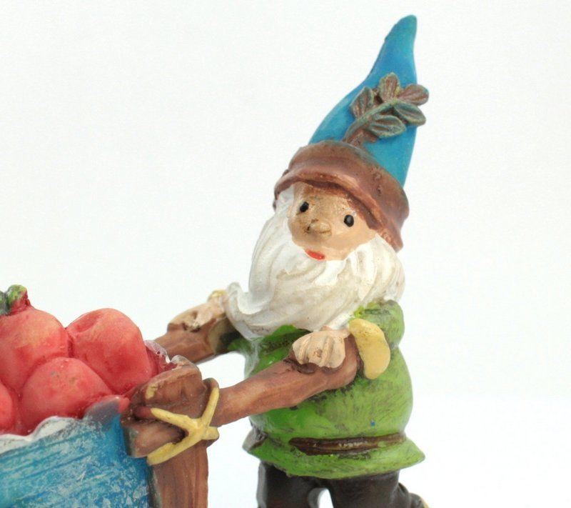 "Forest Gnome Elf - Wheelbarrow - 2""  - 207-6086"
