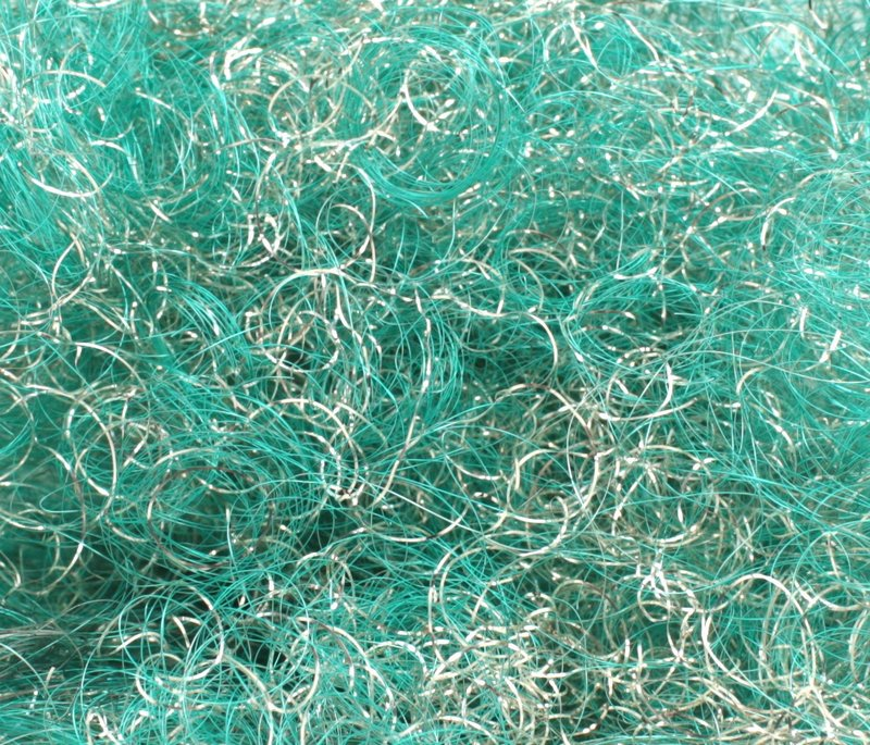 Aqua Silver - Curly German Lametta - 216-0374