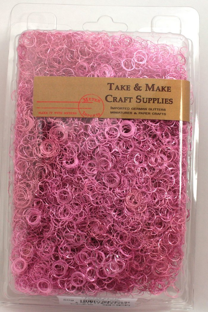 Pink - Curly German Lametta - 216-5362