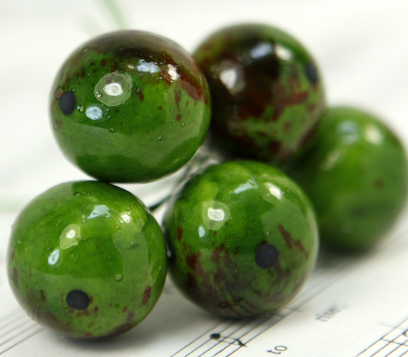 Green Apple - Bead - Ornament - Set of 7 - 6-704-2206