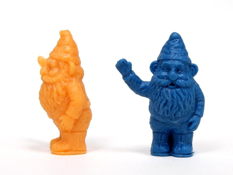 "Gnomes 1"" Tall - 2 Blue - 2 Orange - Set of 4 - 234-0169"