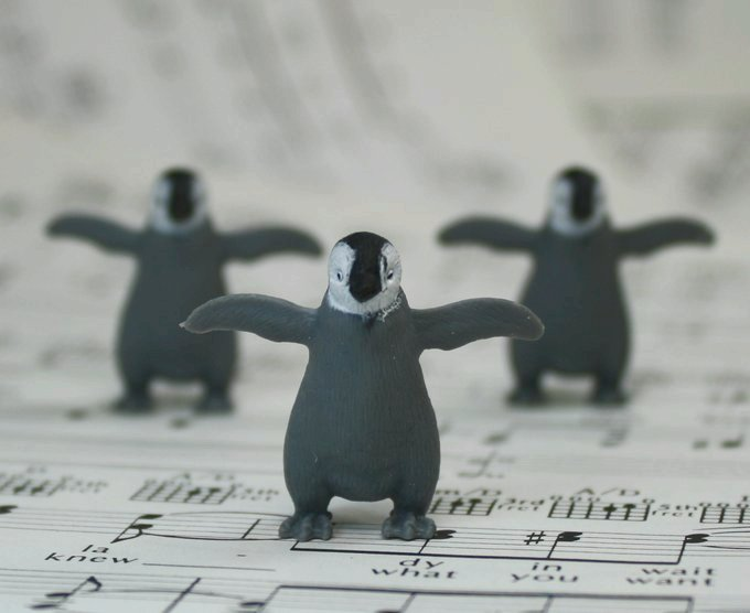 Penguin Babies - Hand Painted -  Set of 4 - 234-1322